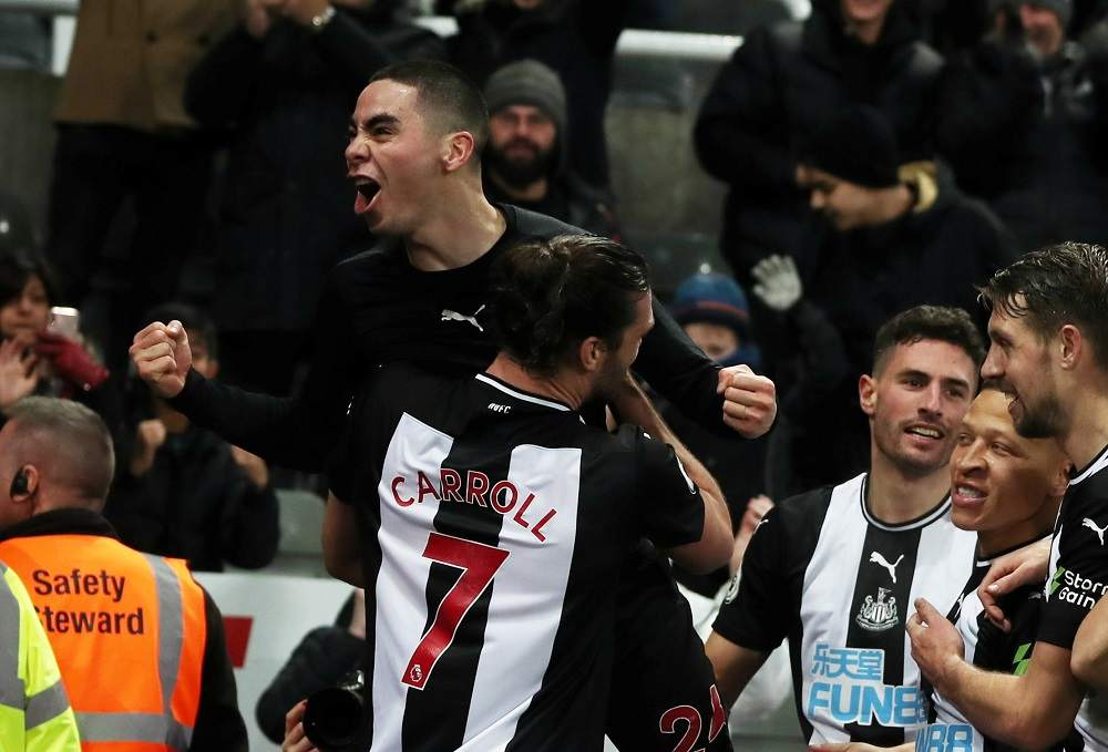 Almiron Goal Crystal Palace Newcastle United