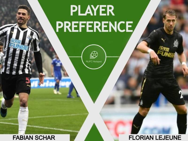 NUFC Florian Lejeune Fabian Schar Player Preference