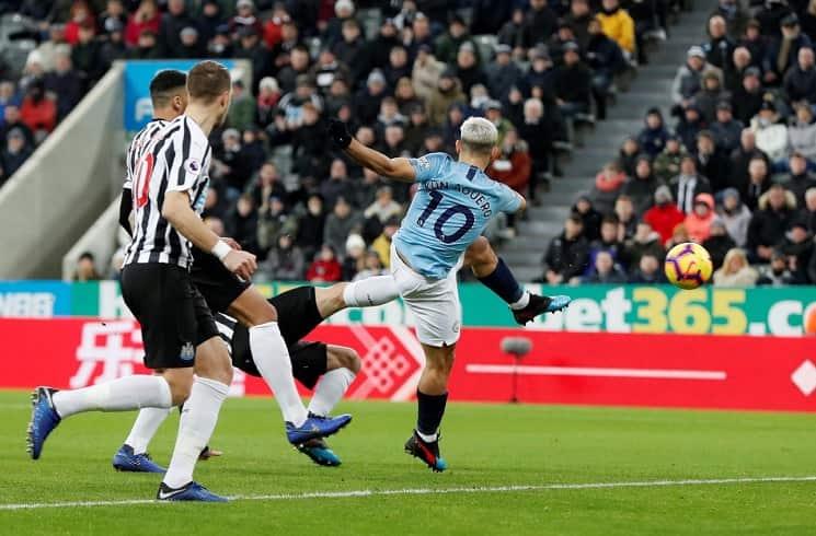 NUFC Hotspot Aguero Goal Man City Newcastle