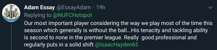 NUFC Hotspot Isaac Hayden Newcastle Fan Opinion #3