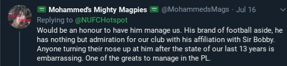 NUFC Hotspot Jose Mourinho Opinion #3
