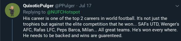 NUFC Hotspot Jose Mourinho Opinion #1